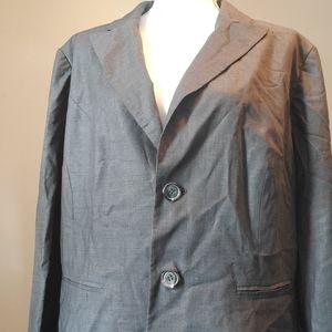 Jones New York gray stretch blazer jacket 18W